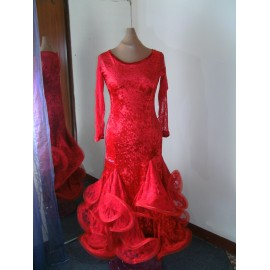 dress dance standard orange