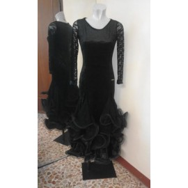 DRESS BLACK WAVES