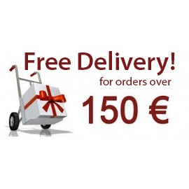 Free delivery for orders over 150 €